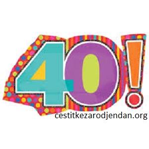 40. rodjendan čestitke